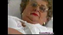 Chubby Granny With Glasses Masturbates Thumbnail
