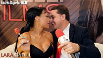 Lara Tinelli teaches how to give a great blowjo...