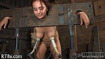 Brutal beating of babe's bottom