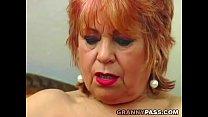 Granny fucks her old pussy with banana Thumbnail