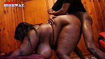 black and latin girls catch loads in their mout...