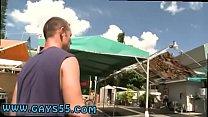Gay sexy naked men walk beach on public street ...