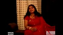 chubby fat indian aunty in red sari Thumbnail