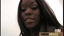 Ebony babe sucks too many white cocks 7
