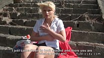 Blonde Hungarian amateur public blowjob and fuck's Thumb