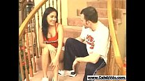 Asian taken and creampied on the stairs