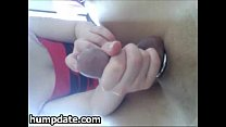 Amateur femdom plays with cock and balls