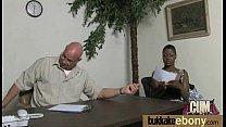 Interracial bukkake sex with black porn star 15