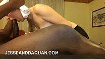 PYT White girl sucking big black dick Thumbnail