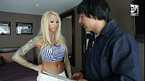 Mexican cable guy fucks big titted horny girl!!...