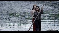 Lesbian adventures on wooden raft # Brea Daniel...