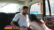 FemaleFakeTaxi Sexy Cabbie in stunning red dres...