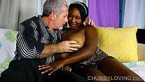 Beautiful big tits black BBW gives an amazing b...
