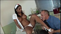 Naughty doctor bangs her sexy nurse in the medi...