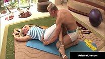 Julia Ann Bangs Yoga Instructor & Gets A LOAD O...