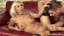 Facial after anal banging with horny Adrianna R...