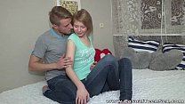 Casual Teen Sex - Teeny Katya surprises with gr...