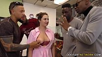 Waitress Elektra Rose Gangbanged By Black Custo...