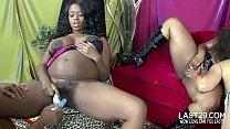 pregnant ebony lesbians masturbate together