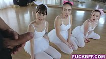 Ballerina teens get fucked by their new slick t...