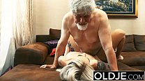 Old and Young Teen Blonde Fucked by Old man tig... Thumbnail