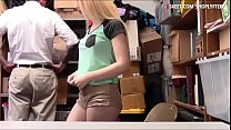 Cute teen thief detained and pounded hard by LP...