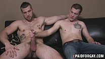 Straight hunk giving a muscular guy head for cash Thumbnail