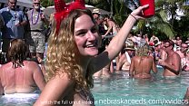 naked pool party key west florida real vacation...