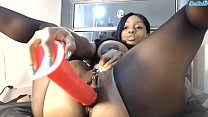 Jada Fire sexy ebony showing pink Thumbnail