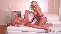 Kyra Hot and Rachele Richey Ride A Massive Doub...