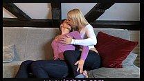 Lesbea Milf pleasures hot blonde teen