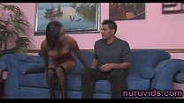 awesome ebony girl under shower with a horny guy