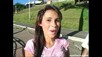 Sexy South American beauty Strips and gets pounded