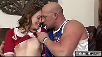 Cheerleader shemale gets her ass banged Thumbnail