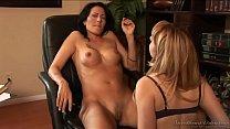 Mature lisbian Lexi Belle seduces her secretary...