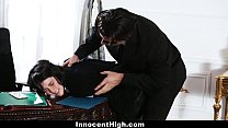 InnocentHigh - Sneaky Student Fucked In The Ova...