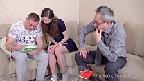 Tricky Old Teacher - Babe comes to study but ge...