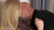 ORGASMS Stunning blonde with beautiful shaved pussy fucked hard by stranger