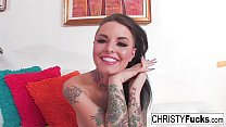 Christy Mack shows off her hot body