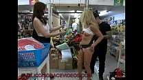 Hot blonde MILF fucked in store