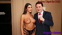 August Ames gives a blowjob lesson for Andrea D...