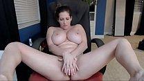 Busty White Woman Fucks Dildo and Sucks Tits - ... Thumbnail