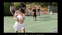 Busty cougar is picked up at the tennis club an...