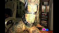 Worlds Most Tattooed Teen Does Double Dildo - C... Thumbnail