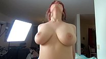 Pale redhead in stockings gets creampied - Amadani