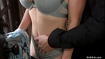 Huge tits wife is rough banged bdsm