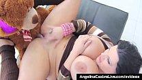 Cuban Babe Angelina Castro Fucks Her Teddy Bear...