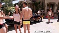 Real amateur babes washing cars naked