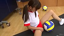 Japanese girls masturbate with volleyball