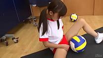 Japanese girls masturbate with volleyball